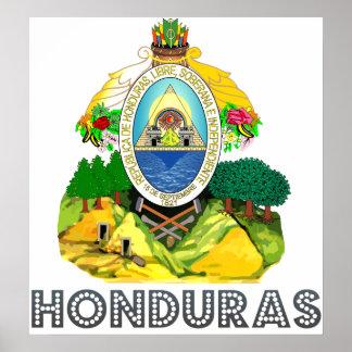 Escudo de armas de Honduras Poster