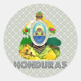Escudo de armas de Honduras Pegatina Redonda