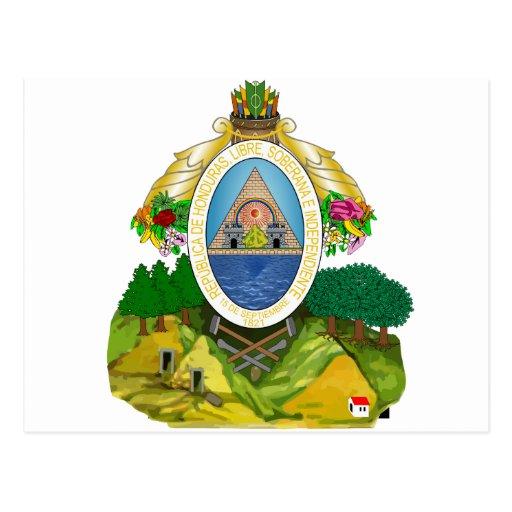 Escudo de armas de Honduras Postales