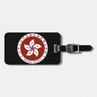 Escudo de armas de Hong Kong (China) Etiqueta Para Maleta