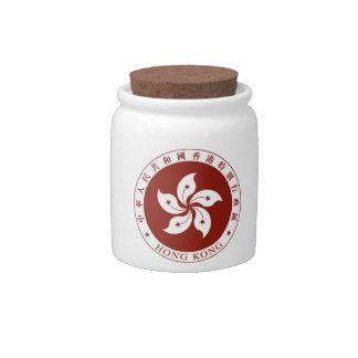 Escudo de armas de Hong Kong (China) Plato Para Caramelo