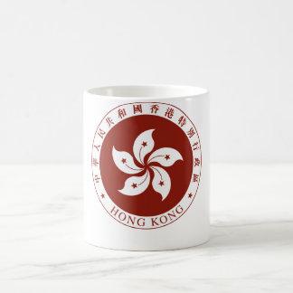 Escudo de armas de Hong Kong (China) Tazas De Café