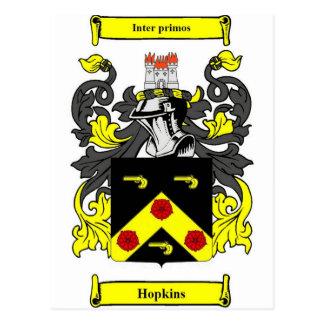 Escudo de armas de Hopkins Tarjeta Postal
