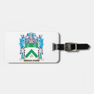 Escudo de armas de Hornblower - escudo de la Etiquetas Maletas