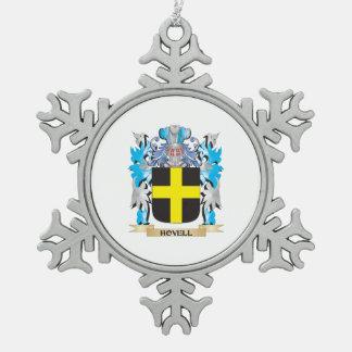 Escudo de armas de Hovell - escudo de la familia Adorno De Peltre En Forma De Copo De Nieve