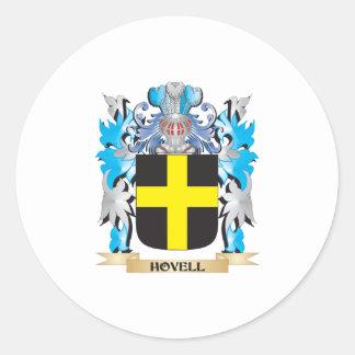 Escudo de armas de Hovell - escudo de la familia Pegatina Redonda