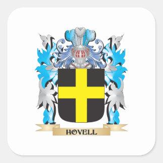 Escudo de armas de Hovell - escudo de la familia Pegatina Cuadrada