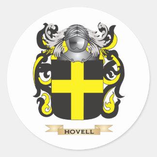 Escudo de armas de Hovell (escudo de la familia) Pegatina Redonda