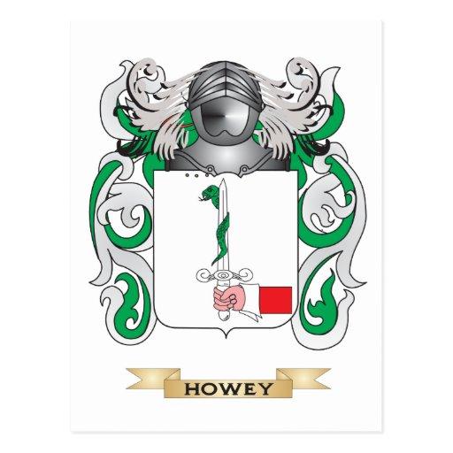 Escudo de armas de Howey (escudo de la familia) Tarjeta Postal
