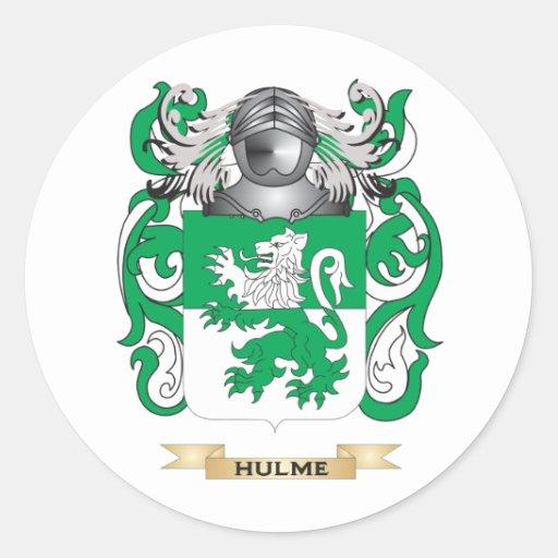 Escudo de armas de Hulme (escudo de la familia) Etiquetas