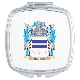 Escudo de armas de Hulton - escudo de la familia Espejos Compactos