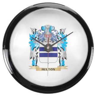 Escudo de armas de Hulton - escudo de la familia Relojes Aqua Clock