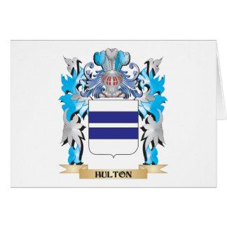 Escudo de armas de Hulton - escudo de la familia Tarjeta Pequeña