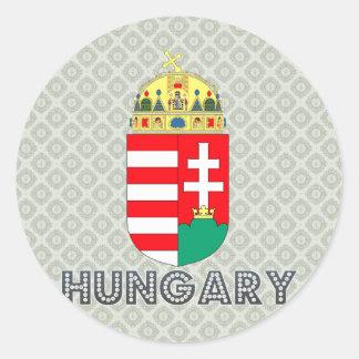 Escudo de armas de Hungría Etiqueta Redonda