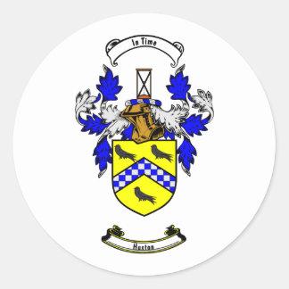 Escudo de armas de HUSTON Pegatina Redonda