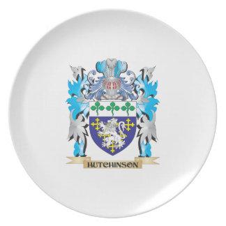 Escudo de armas de Hutchinson - escudo de la Platos