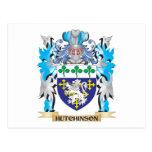 Escudo de armas de Hutchinson - escudo de la Tarjeta Postal