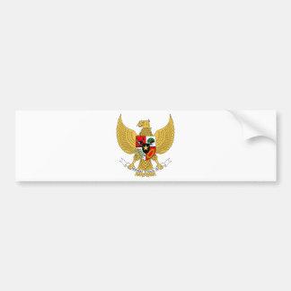 Escudo de armas de Indonesia Etiqueta De Parachoque