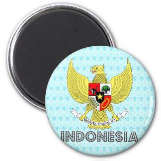 Escudo de armas de Indonesia Imán Redondo 5 Cm