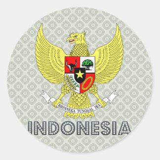 Escudo de armas de Indonesia Pegatina Redonda