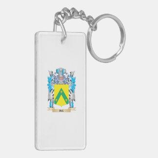 Escudo de armas de Ing - escudo de la familia Llavero Rectangular Acrílico A Doble Cara