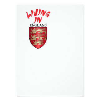 "Escudo de armas de Inglaterra Invitación 5.5"" X 7.5"""