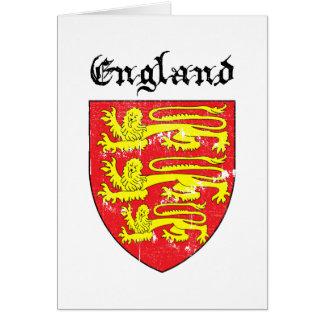 Escudo de armas de Inglaterra Tarjeta De Felicitación