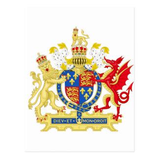 Escudo de armas de Inglaterra Tarjetas Postales