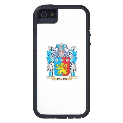 Escudo de armas de Ingles - escudo de la familia iPhone 5 Case-Mate Funda
