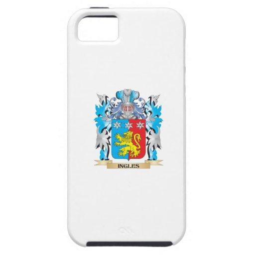 Escudo de armas de Ingles - escudo de la familia iPhone 5 Cárcasa