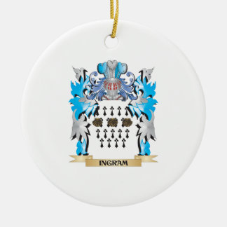 Escudo de armas de Ingram - escudo de la familia Adorno De Navidad