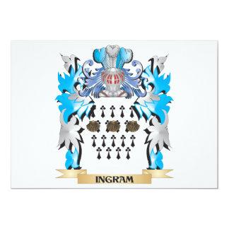 Escudo de armas de Ingram - escudo de la familia Invitacion Personal