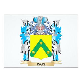 Escudo de armas de Ings - escudo de la familia Invitacion Personalizada