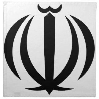 Escudo de armas de Irán Servilletas Imprimidas