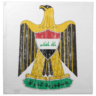 Escudo de armas de Iraq Servilletas