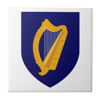 Escudo de armas de Irlanda Azulejo Cuadrado Pequeño