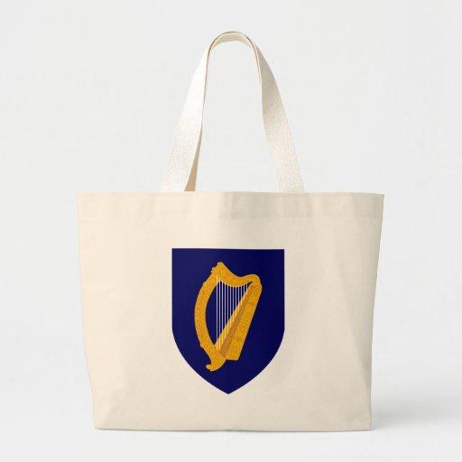 Escudo de armas de Irlanda Bolsa Tela Grande