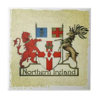 Escudo de armas de Irlanda del Norte Azulejo Cuadrado Pequeño