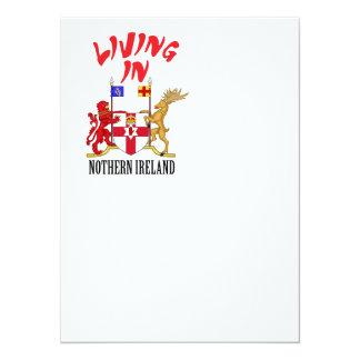 """Escudo de armas de Irlanda del Norte Invitación 5.5"""" X 7.5"""""""