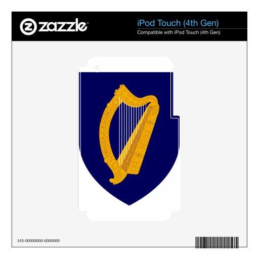 Escudo de armas de Irlanda Calcomanías Para iPod Touch 4G