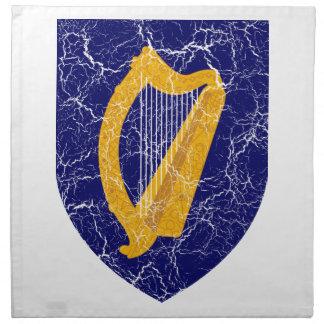 Escudo de armas de Irlanda Servilleta Imprimida