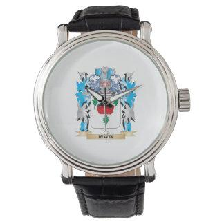 Escudo de armas de Irwin - escudo de la familia Relojes De Pulsera