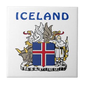 Escudo de armas de ISLANDIA Azulejo Cuadrado Pequeño