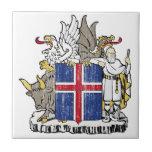 Escudo de armas de Islandia Azulejos