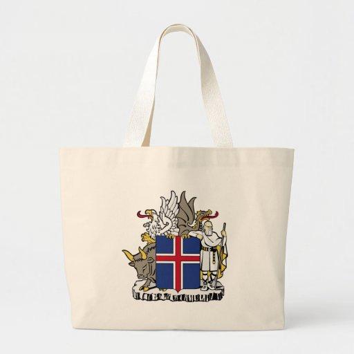 Escudo de armas de Islandia Bolsas