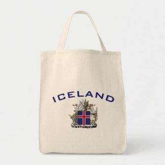 Escudo de armas de Islandia Bolsas Lienzo