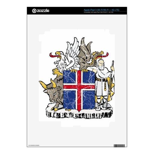 Escudo de armas de Islandia iPad 3 Skin