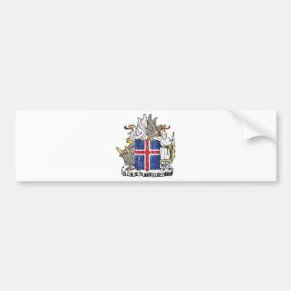 Escudo de armas de Islandia Pegatina Para Auto