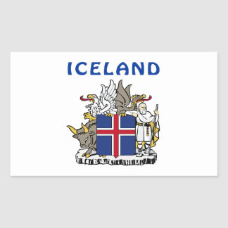 Escudo de armas de Islandia Pegatina Rectangular
