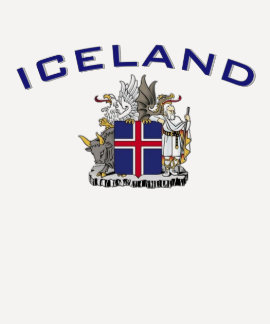Escudo de armas de Islandia Playeras